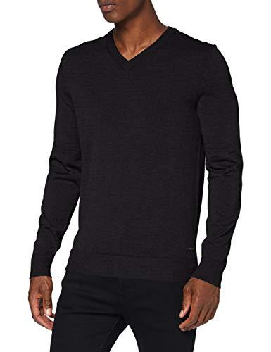 Strellson Premium Herren Martin-V Pullover, Dark Grey 024, S