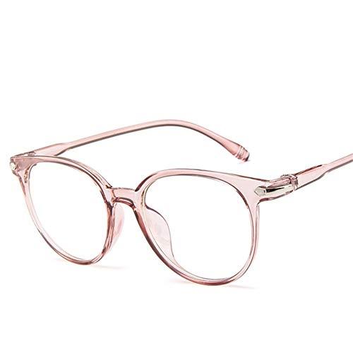 BAYSU Gafas de Sol Gafas graduadas de la computadora de los vidrios Estudiante Hombres de Las Mujeres Oval Redondo del Ojo de vidrios Claro Transparente Plana de la Lente de la miopía Gafas de Sol