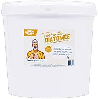 VOZYDEO Terre de Diatomée Blanche 5Kg Non calcinée/ Alimentaire E551 -100% Naturelle- Garantie sans additifs Idéale contre...