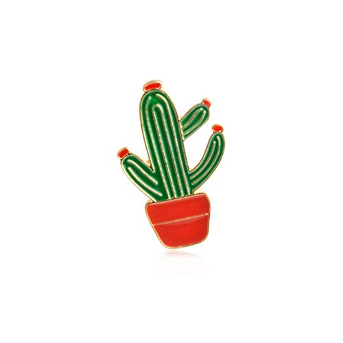 JTXZD broche mode cactus broche leuke mini-bloempot emaille mannen vrouwen denim jack hoed badge kind accessoire spelden