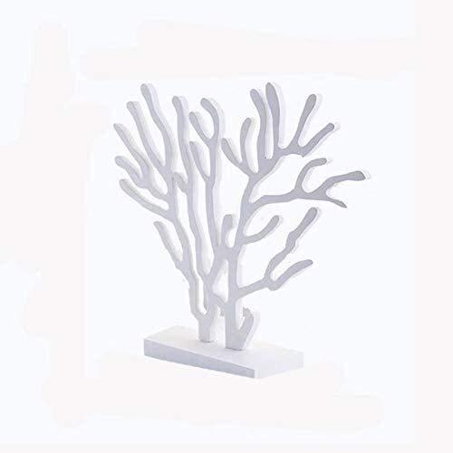 YANRUI Muebles de Madera de la Escultura de Coral de Madera Decoración de la Estatua Muebles para el hogar Regalos Arte Figurines Mediterráneo Planta decoración (Size : C)