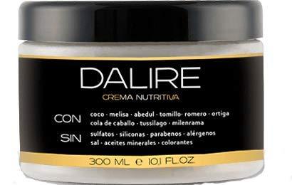 Mascarilla Pelo Crema nutritiva sin sulfatos BIO Dalire 300ml. Sin parabenos, sin sal, sin tóxicos. Mejor tratamiento mascarilla Capilar y Cabello 2021. Premio HealhHair 2021