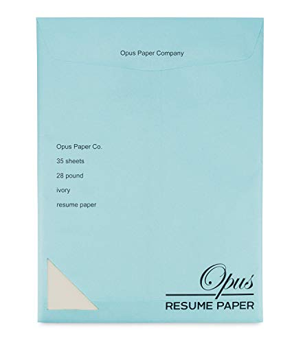 Plant a Tree with Opus Resume Paper | ivory | 28 lb NO WATERMARK 8.5x11 | 35 sheets | Ideal stationery for resumes, cover letters, letterhead