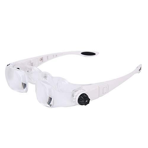 BXU-BG Head-Mounted HD Reparación 2.1 veces de vidrio lectura bordado grabado reparación electrónica del producto con soporte para teléfono móvil espejo de expansión portátil
