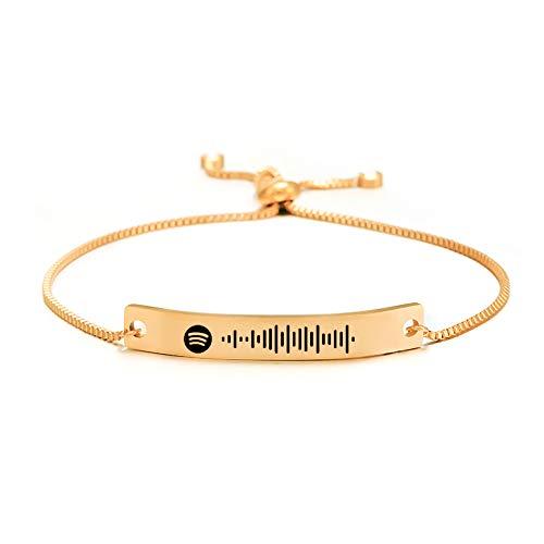 Música personalizada pulsera Spotify Code pulsera personalizada pulsera ajustable pulsera madre novia regalo de joyería