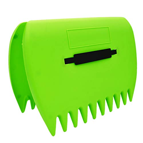 Leaf Scoop 1 Pair Leaf Hand Rakes Leaves Collector Plastic Garden Scoop for Picking Up Leaves,Grass Clippings and Garbage (Light Green)