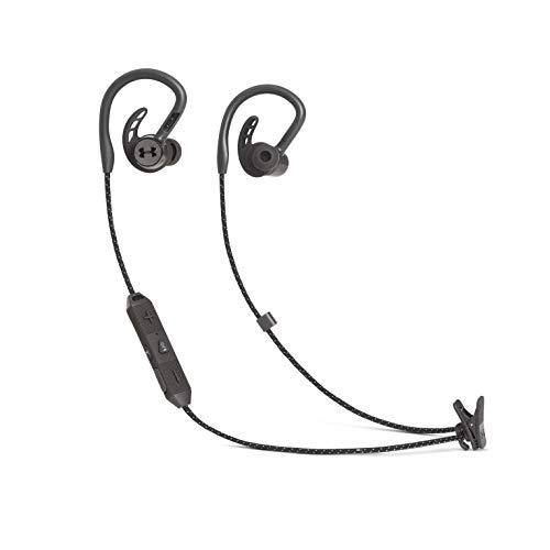 JBL Under Armour Sport Wireless Bluetooth PIVOT Cuffie magnetiche In-Ear, Cuffie Sportive Senza Fili con Gancio e tecnologia Bionic Hearing, Fino a 9h di autonomia, Nero