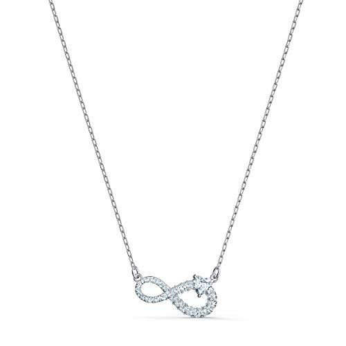 Swarovski Collana Swarovski Infinity, bianco, placcato rodio