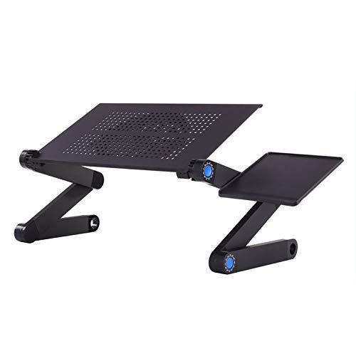 Mesa de ordenador portátil ajustable de aleación de aluminio portátil plegable de escritorio de computadora portátil de escritorio de soporte de computadora para sofá cama