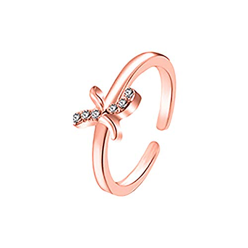 HINK Anillo de Letras 26 Diseño de Arte de Letras inglesas Combinación de Diamantes Regalo de Pareja Joyas y Relojes Anillos