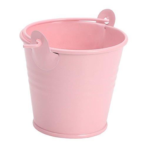 Junlinto Mini Pot de Fleurs en métal Corps Plante Plante Pot de Fleurs Home Office Decor, Fer-Blanc, Rose, 5.6 * 4 * 5.1cm