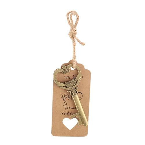 Fácil de usar con abridor de tarros con tarjeta de etiqueta, abridores de tapas de botellas resistentes y duraderos, para invitados de boda, regalo para(50Pcs+tag+hemp rope)