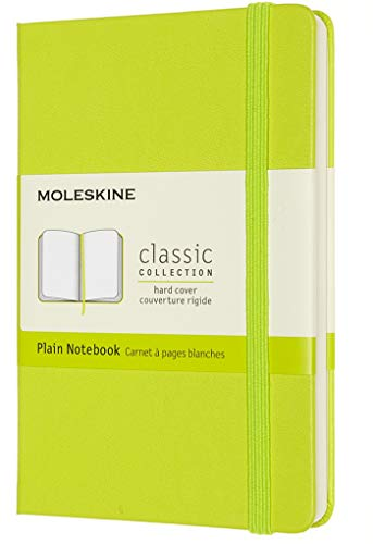Moleskine - Cuaderno Clásico con Hojas en Blanco, Tapa Dura y Cierre con Goma Elástica, Tamaño de Bolsillo 9 x 14 cm, Color Verde Limón, 192 páginas