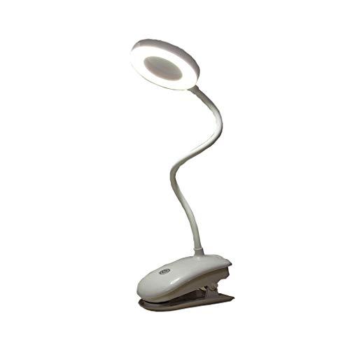 Led-vergrootlamp met voet, loep lamp met licht cosmetisch daglicht helder opvouwbare glazen lens, in hoogte verstelbare standloep met zwanenhals, voor lezen en ambachtelijke verlichting wit