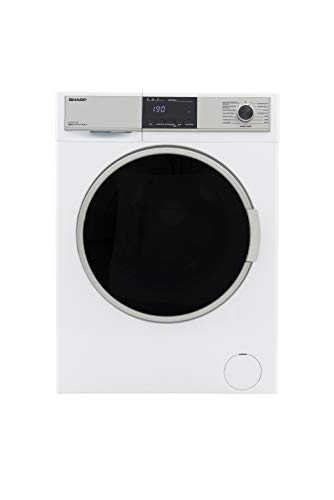 Sharp ES-HDB8147W0-DE Waschtrockner/A / 8 kg Waschen / 6 kg Trocknen / 1400 UpM / 15 Programme/AquaStop/Weiß