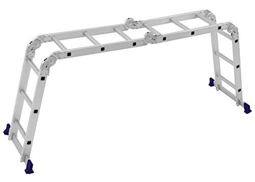 Escada Multifuncional Com Plataforma 4x3 12 Degraus Mor