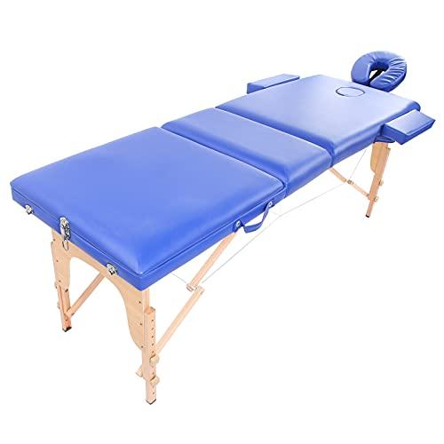 Zerone Table de Massage, lit de Spa Facile à Nettoyer et à Entretenir avec 2 accoudoirs pour lit...