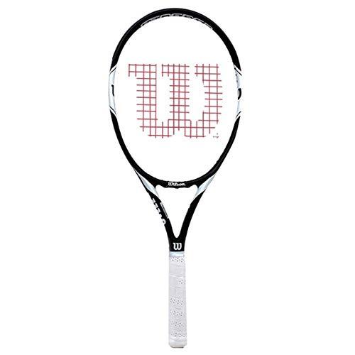 Raquetas Tenis Individuales Profesionales Masculinas Y Femeninas Tenis Integradas De Carbono Tenis De Alta Rebote (Color : Blanco, Size : 27inches)