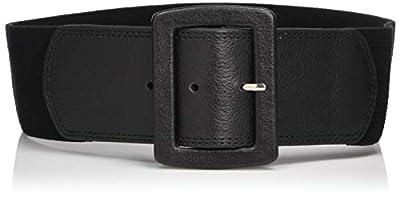 Calvin Klein Women's Linen Stretch Belt,Black,Small/Medium