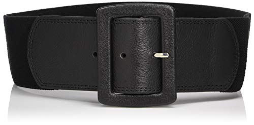 Calvin Klein Women's Linen Stretch Belt,Black,Small/Medium