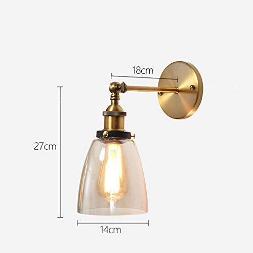 Woonkamerlamp retro wandlamp woonkamerlamp wandlamp wandlamp basislamp goud LED wandlamp gang B-amber
