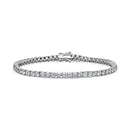Bracciale tennis con diamanti ct 4,81 - Oro 18 carati - 17 cm - Diamanti certificati internazionali