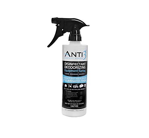 Anti3 Disinfectant Spray, Kills 99% of Bacteria and Viruses, EPA Registered, 16 -Ounce Bottle