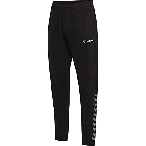 hummel Herren hmlAUTHENTIC Sweat Pant, Black/White, XL
