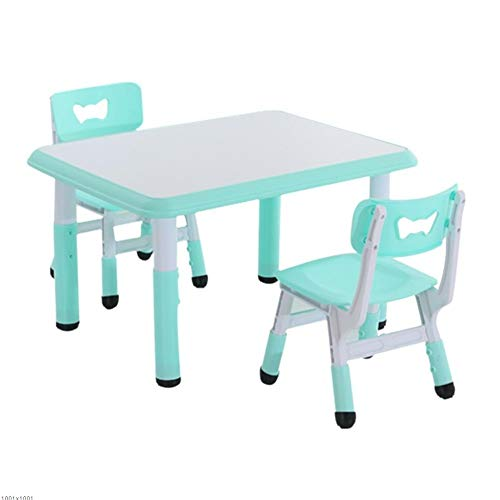 CHAXIA Chaise De Table Enfant Ensemble Bureau Graffiti Hauteur Réglable Design Ergonomique Stable Durable Campagne 2 Couleurs 3 Combinaisons (Color : Green, Size : B)