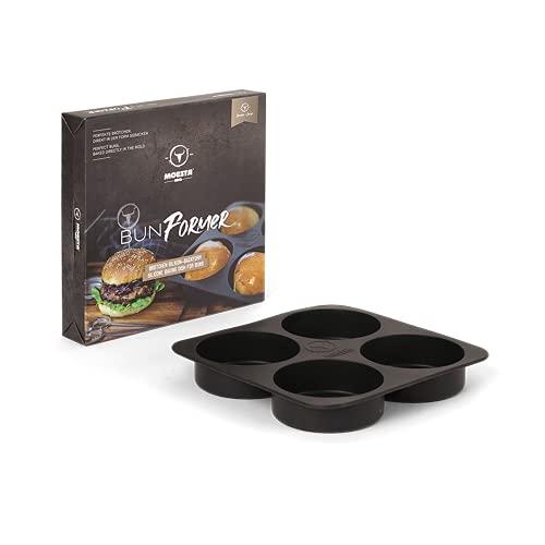 MOESTA-BBQ 19297 - BunFormer - Silikon-Backform für Burger-Brötchen – Bis 230°C Temperaturbeständig für Ofen/Grill