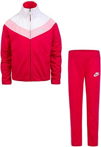 Nike Baby Mädchen Trikot Trainingsanzug 2-teiliges Outfit Set, Mädchen, Rush Punk(36E156-A4Y)/Weiß/Pink, 4