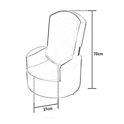 YIZ Stoelen Moderne meubels kunstleer klap creatieve rugleuning klapstoel nagel voetensteun huis klapbank kruk (beschikbaar in meerdere stijlen) # 2