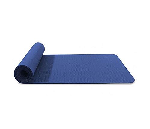 Yumanluo Colchoneta Gruesa para Deportes,Estera de Yoga Antideslizante TPE Mat-J_183 * 61 * 0.8CM,Set de Esterilla Yoga Mat Antideslizante