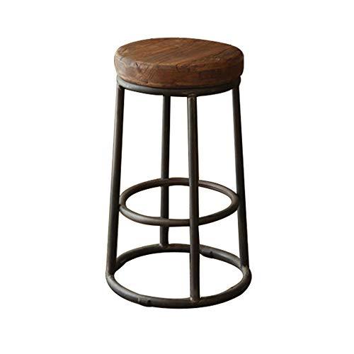 YAN JUN Chaise De Bar En Bois Massif, Tabouret De Bar En Fer Forgé (taille : 45cm)