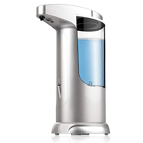 IYEETOM Seifenspender Automatisch, 370ML Berührungsloser Seifenspender Automatischer Seifenspender mit Bewegungssensor, Elektrischer Seifenspender Wasserdichtes, Gelten Badezimmer, Küche, Hotel