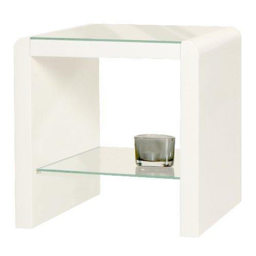 Phoenix Chevet Atlanta Table d'appoint en Bois Blanc, 42,7 x 42,7 x 35 cm