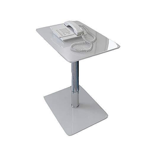 FEI - Bureau d'ordinateur Support amovible pour ordinateur portable en verre trempé amovible Table d'appoint mobile pour les ordinateurs portables Plancher en verre pour salon ou chambre pour tous les