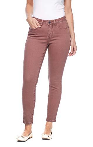 Calça jeans feminina FDJ French Dressing Olivia com caimento levemente curvado, slim, Rosewood, 6 28