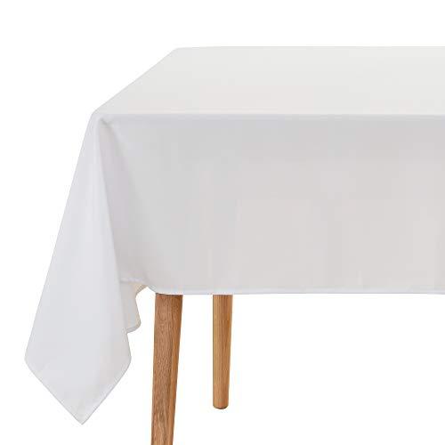 UMI Amazon Brand Manteles Mesa Rectangular de Cocina para Restaurantes 140 x 240 cm Blanco