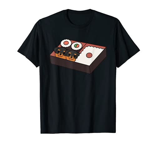 Sushi Bento Box Rottweiler Chien T-Shirt
