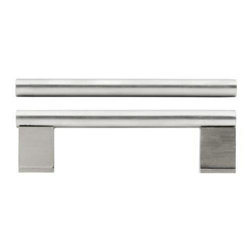 Ikea VINNA Möbel Griffe aus Edelstahl; (357mm); 2 Stück