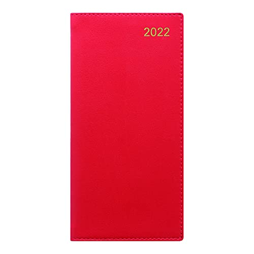 Letts Belgravia Weekly/Monthly Planner, 12 Months, January to December, 2022, Week-to-View, Vertical, 6.625″ x 3.25″, Red (C33SURD-22)
