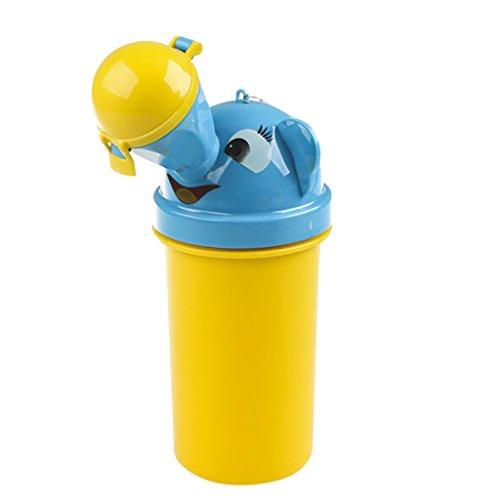 Portátil Orinal De Bebé Higiénico Urinal De Emergencia Para Acampar Asiento de Inodoro Para Niña Niños De Viajes En Coche - amarillo