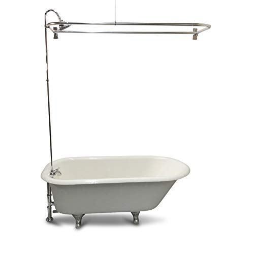 My PlumbingStuff RX2300J JUMBO Clawfoot Tub Add-a-Shower -...