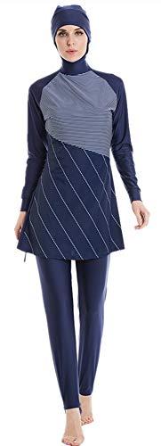ShuoBeiter Muslimischen Badeanzug Muslim Swimwear Full Cover Badebekleidung für Frauen (2, 2XL)