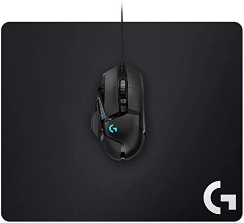 Logitech G502 Hero Gaming-Maus (mit Hero Sensor, RGB, 16.000 DPI, 11 programmierbare Tasten, Laptop- und PC-Computermaus, 5 anpassbare Gewichte, Balance-Tuning) + Logitech G240 Gaming Mousepad