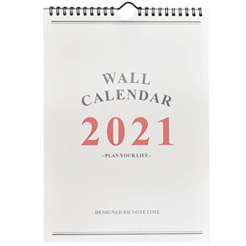 STOBOK 1Pc Calendario Murale Accademico 2020-2021 16 Mesi Settembre 2020 - Dicembre 2021 Calendario Pianificatore Calendario Muro Dipinto a Mano Calendario Pianificatore per La