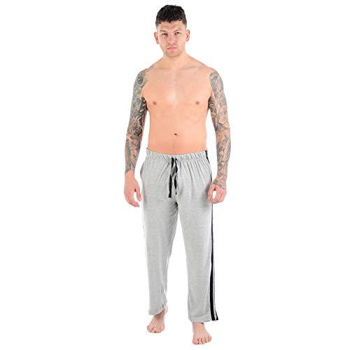 MyShoeStore®, lange joggingbroek voor heren, nachtkleding, vrijetijdskleding, eenkleurig, casual, lichte fitnessbroek voor volwassenen