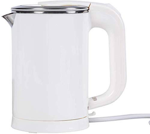 Electric Travel Kettle, Dual Voltage Water Kettle Small, 0.5L Portable Electric Kettle, Stainless Steel Small Water Kettle, 110-240V Perfect for Traveling Boiling Water, Coffee, Tea