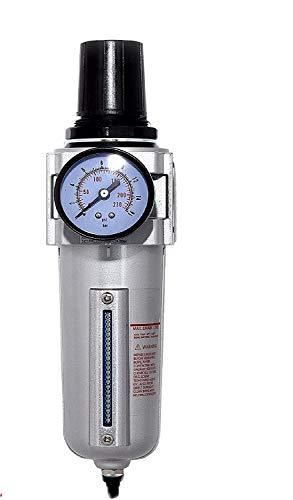 3/4' Air Compressor Regulator & Filter Combo w/Gauge & Auto Drain